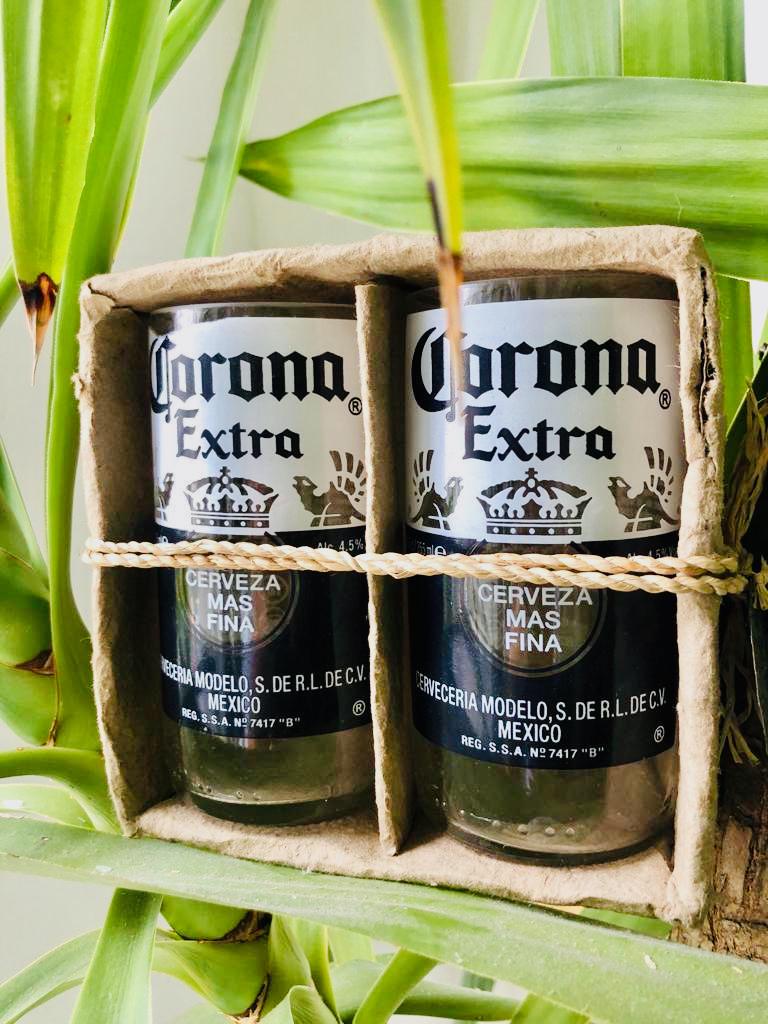 Corona Extra set of drinking glasses 01